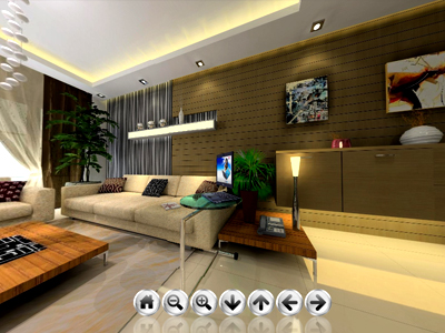 living room 360 panorama