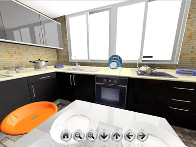 kitchen interior design 360 panorama